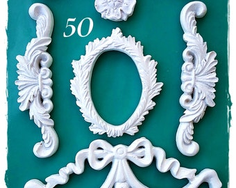 Baroque Ornaments 50....Silicone Mould