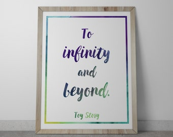 Poster / Print - Disney Toy Story Movie Quote - 3 Sizes Available
