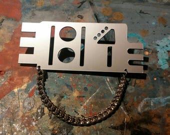 RUSH*** Rhythm Nation pin w/ Chain (for pocket)