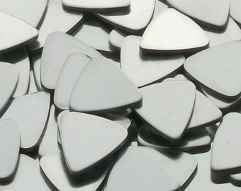Pewter Stamping Blanks - Guitar Picks - Qty 5, guitar pick blanks, Bopper