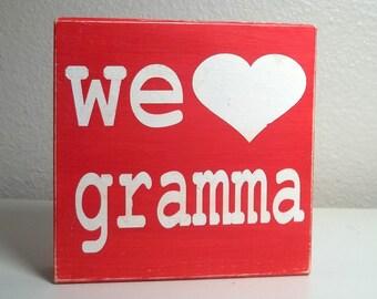 Custom We Heart Gramma, Mom, Grandma You Choose the Name