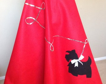 Custom '50s Poodle Skirt with a Scotty Dog