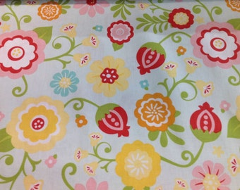 "INSTOCK....Pretty Floral Riley Blake Fabric 44"" wide..........NEW off the Bolt"