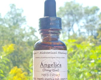 ANGELICA (Dong Quai) Organic Herbal Extract | ALCOHOL-FREE tincture, Glycerite | Natural Remedy, Wellness Supplement. Hormone Balancing