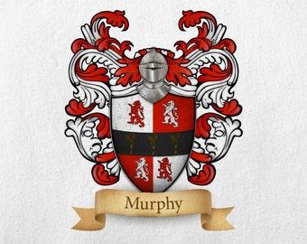 Murphy Family Crest - Print