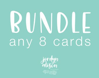 Bundle Card Set of 8 - A2 Greeting Cards, Bundle Card Deal, Bundle any Cards