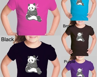 Girl's T-shirt - Created using a list of 37 popular animals on the endangered species list