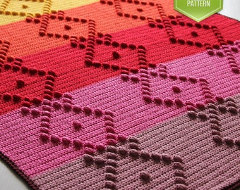 PDF crochet pattern - Marlize baby blanket - crochet blanket - instant download