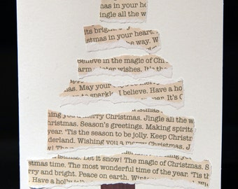 Written Tree Christmas Card Set