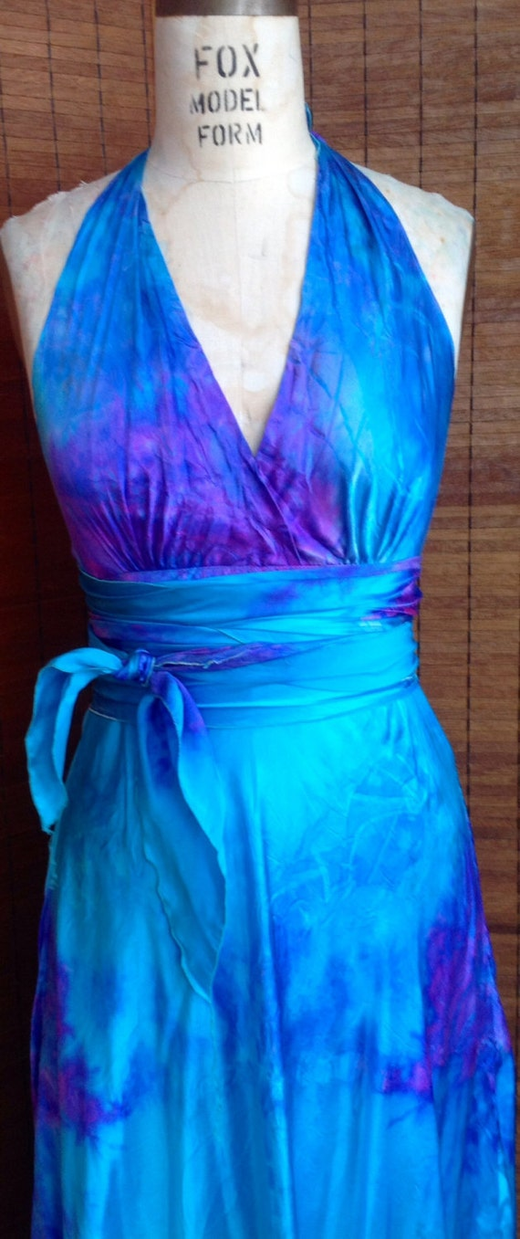 purple and turquoise wedding dresses turquoise lavender purple silk halter wedding dress with 6877