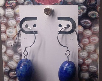 Sterling silver filled Lapis Lazuli earrings
