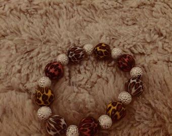 Handmade animal print bracelet