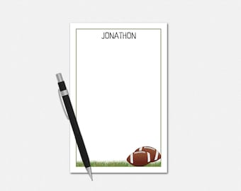 Personalized Notepads - Football Notepad - Personalized Gifts for Coach - Football Gifts for Him - Football Coach Gifts - Custom Notepads