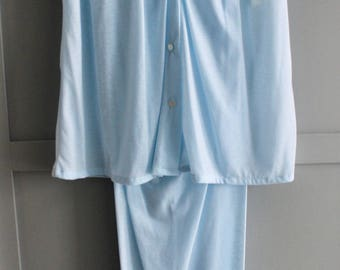 Vintage French Maid Lingerie Pale Blue Pyjama Set - New with Tags - Size Small