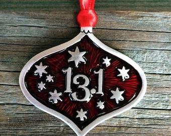 13.1 Christmas Decoration | Runner Gift | Runner Ornament | Gift For Runner | Handcrafted Christmas Ornaments | Fine Pewter by Treasure Cast