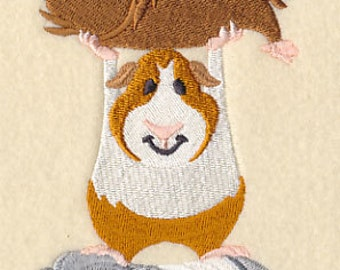 Guinea Pig Stack Embroidered Flour Sack Hand/Dish Towel