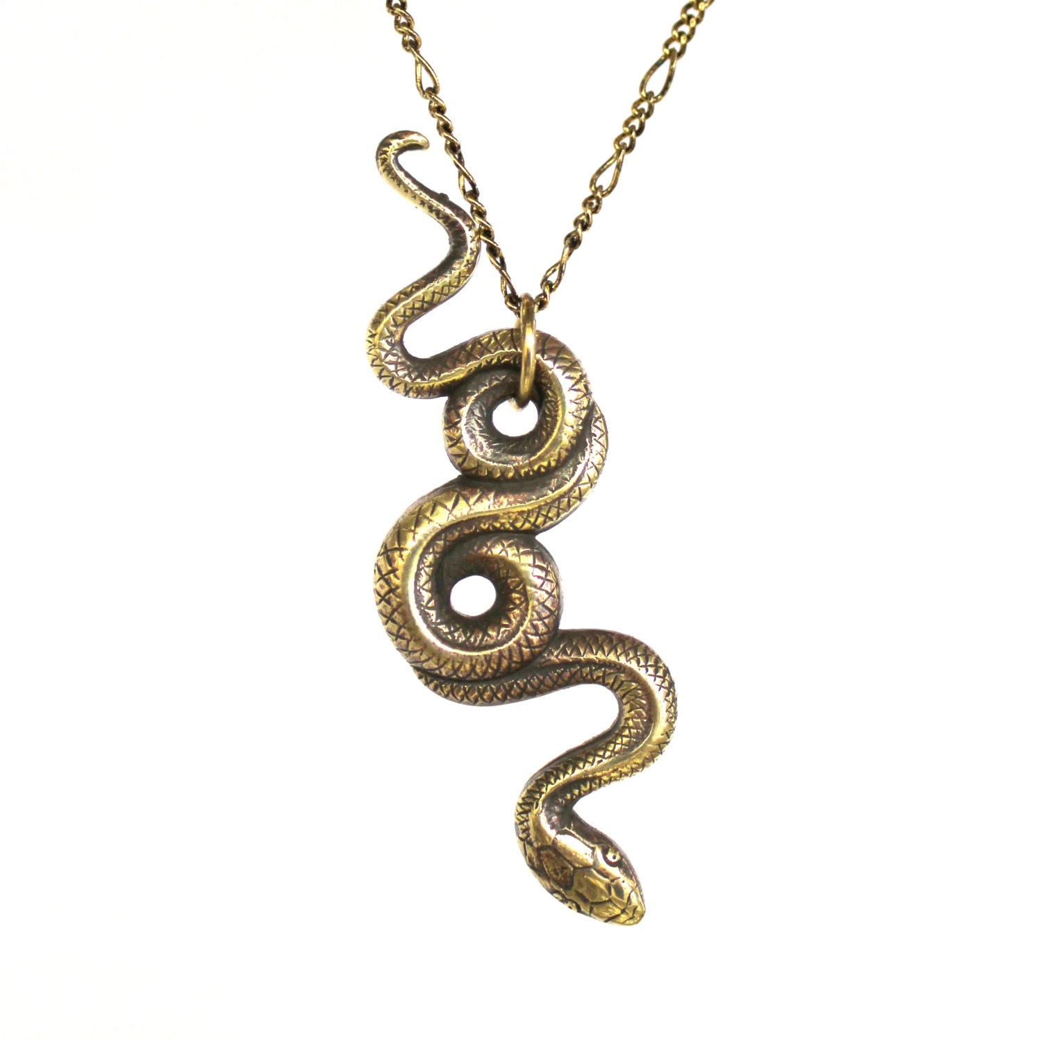 Garden snake necklace bronze snake pendant necklace serpent zoom aloadofball Image collections