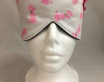 Pink Poodle Cotton Sleep Mask & Case Set, Eye Mask, Travel Mask, Sleeping Mask, Blindfold