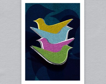 Birds - Limited edition A4 print