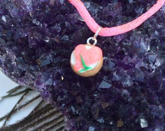 Bagel and lox pendant, heart pendant, lox and bagel, miniature food, Jewish food, lox on bagel, cream cheese and lox, polymer charm,Chanukah