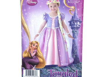 Simplicity Disney Tangled 2065 Sewing Pattern  Rapunzel  Princess Child Size A 3-8 Halloween Costume Uncut