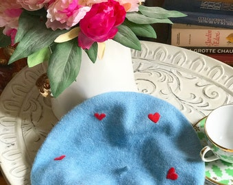 Handembroidery french beret.