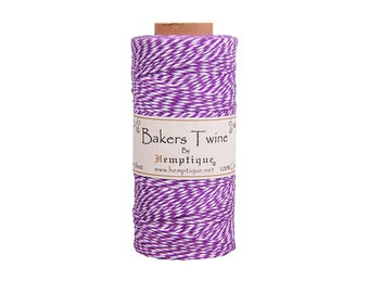 Purple & White Bakers Twine Spool