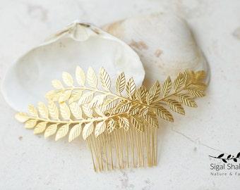 Greek Comb, Leaf Hair Comb, Grecian Hair Comb, Bridal Hair Comb, Bridal Headpiece, Bridesmaids Gift, Bridesmaids Headpiece, Bridal Accessory