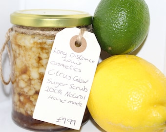 Citrus Glow sugar scrub - Lemon and Lime