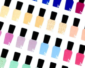 Nail Polish Stickers   Planner Stickers