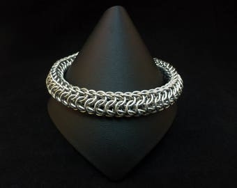 Chainmaille Dragonback Bracelet - Silver - Chainmail Jewellery