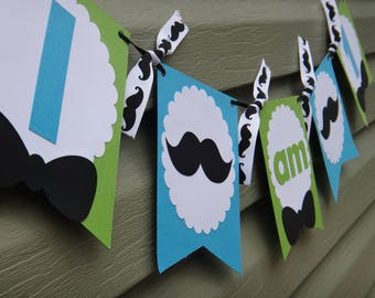 Little Man Birthday Banner, Mustache Banner, Little Man First Birthday, Mustache Bash