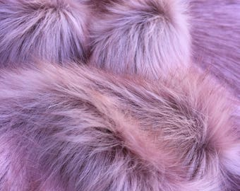 Whimsy Rouge - Stunning Long pile Tipped Faux Fur  - 1/4m piece