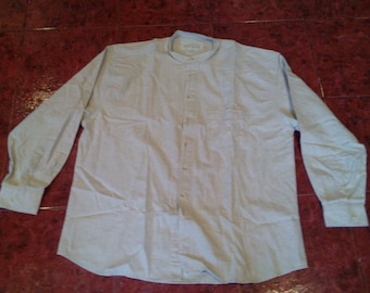 "Mens shirt""Henrico""cotton-linen XXL size"
