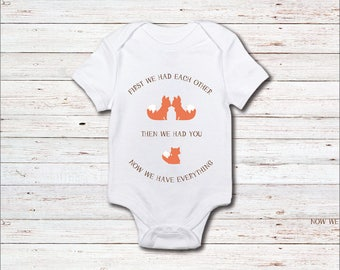 Fox Onesie, Fox, Woodland Creatures, Baby Shower Gift, Now We Have Everything, Animals, Baby Clothes, Shirt, New Baby Gift, Baby Boy, Girl