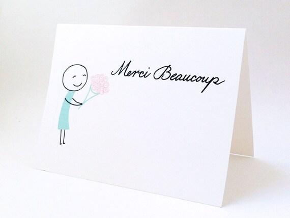 Cute Wedding Gift: Cute Thank You Card // Wedding Gift Thank You Note // Bridal