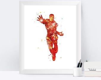 Iron Man Print Iron Man Art Printable Avengers Superhero Poster Nursery Marvel Kids Room Decor Wall Art Gift Home Decor instant download