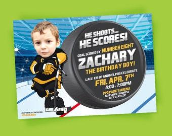 Hockey Invitation - Hockey Party - Hockey Birthday - Tailgate - Sports Birthday - Printable Party - Hockey Ice