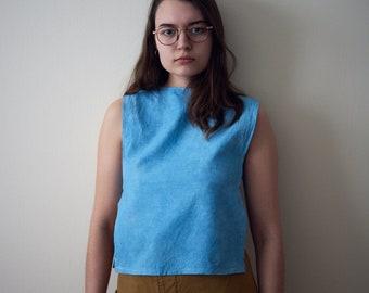 Indigo Dyed Cotton Top