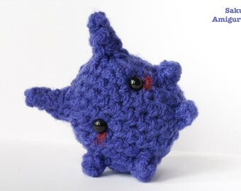 Gengar - Pokemon - Amigurumi -  Kawaii Plush - Crochet - Peluche - Uncinetto - Morbido