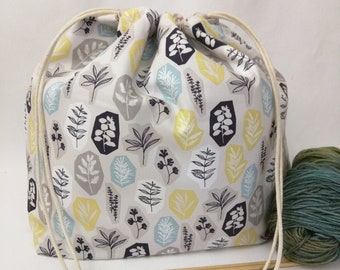 Large Super Draw Project Bag - Garden Party