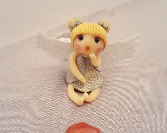 Miniature polymer clay little angel