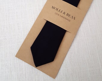 Black Necktie, Skinny Black Necktie, Boys Black Necktie, Ring bearer Black necktie