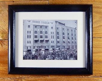 Yankee Stadium - New York Ballpark in the 1940's - Vintage Sports Hanging Wall Decor