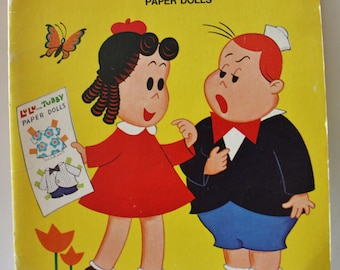 Whitman 1974 LITTLE LULU and TUBBY Paper Doll Book Unused Uncut Vintage