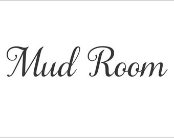 Mud Room Decal Mud Room Door Decal Mud Room Decor Utility Room Decal Mud Room Vinyl Decal Laundry Vinyl Decal Laundry Room Decor
