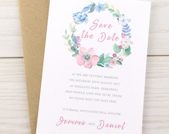 SAMPLE * Spring Field Save the Date Cards