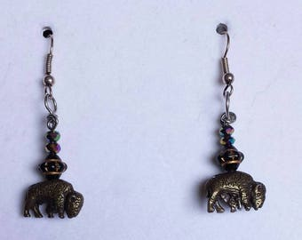 Buffalo/bison with Crystal accent