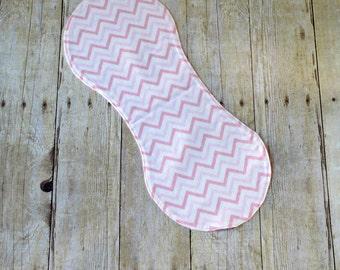 Flannel Burp Cloth - Pink Chevron- Baby Girl - Baby Girl Gift - Baby Shower - Layette