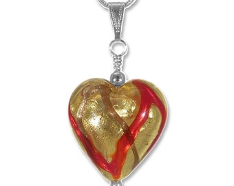 Murano glass heart etsy murano glass heart pendant mozeypictures Image collections
